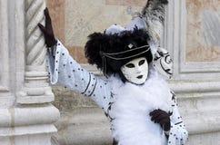 Персона в Venetian costume в масленице Венеция. стоковые изображения rf