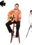 персона гитары стоковое фото rf