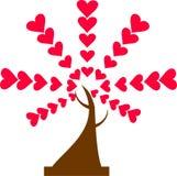 Персона дерева зеленых и красных сердец 2 иллюстрация вектора