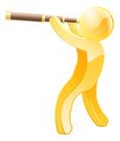 Персона золота телескопа Стоковая Фотография RF