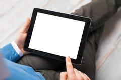 Персона используя планшет стоковое фото rf