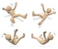 Персона которая упала вниз с аварией бесплатная иллюстрация