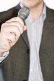 персона микрофона Стоковое Изображение