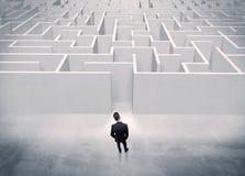 Персона продаж стоя на входе лабиринта Стоковое Фото