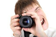 Персона фотографирует с камерой Стоковая Фотография RF