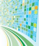 перспектива абстрактной предпосылки cyan mozaic иллюстрация штока