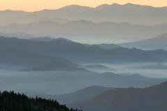 перспектива аппалачской горы Стоковое Изображение