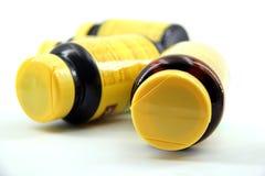 Перспектива бутылок пилюльки Стоковые Фотографии RF