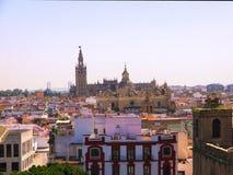 Перспектива верхних частей крыши Севильи Испании, от Metrop стоковые фотографии rf