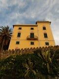 Перспектива виллы Sestri Levante Стоковые Фотографии RF