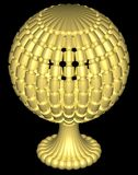 перспектива глобуса Стоковые Фотографии RF