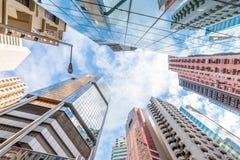 Перспектива Гонконг здания Стоковая Фотография RF