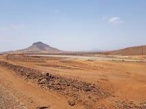 Перспектива горжетки, ландшафт Кабо-Верде стоковое фото rf