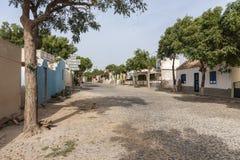 Перспектива горжетки Fundo das Figueiras деревни главной улицы стоковые фотографии rf