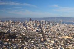 Перспектива города Сан-Франциско Стоковое Изображение