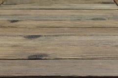 Перспектива деревенских деревянных планок или таблицы или пола Стоковое Фото
