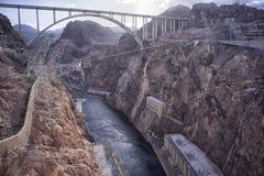 Перспектива запруды Hoover's стоковое изображение