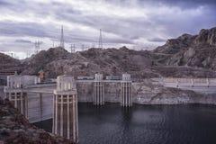 Перспектива запруды Hoover's стоковые изображения rf