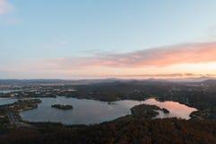 Перспектива захода солнца Стоковое Фото