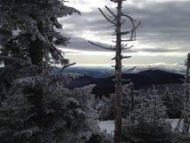 Перспектива зимы - Killington Вермонт Стоковые Изображения RF