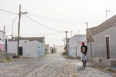 Перспектива Кабо-Верде горжетки деревни Bofareira стоковое изображение rf