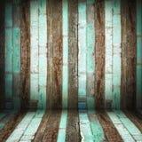 Перспектива комнаты, стена старого Grunge деревянная Стоковое Фото