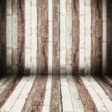 Перспектива комнаты, стена старого Grunge деревянная Стоковая Фотография
