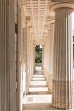 Перспектива колоннады Стоковое Изображение RF