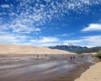 Перспектива ландшафта на больших песчанных дюнах в Колорадо Стоковое Изображение