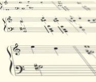 перспектива нот clef иллюстрация штока