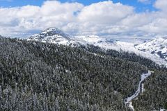 Перспектива от Mt Washburn, национального парка Йеллоустона Стоковые Изображения RF
