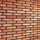Перспектива предпосылки текстуры кирпичной стены штрафа tan бежа Grunge красная желтая, большая детальная картина крупного плана Стоковое Фото