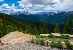 Перспектива скалистой горы Aspen Колорадо стоковое изображение rf