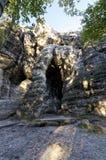 Перспектива снятая высокорослых горных пород Стоковое Фото