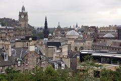 Перспектива Эдинбурга от холма Calton Стоковое Изображение