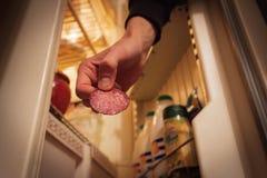 Перспектива любимчиков - угощайте сосиску стоковая фотография rf