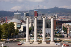 перспектива barcelona Стоковая Фотография RF