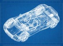 Перспектива 3D †светокопии автомобиля концепции « стоковая фотография