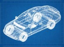 Перспектива 3D †светокопии автомобиля концепции « стоковые изображения rf