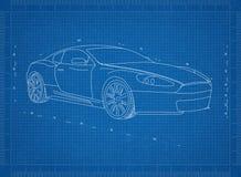 Перспектива 3D †светокопии автомобиля концепции « стоковое фото rf