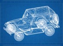 Перспектива 3D †светокопии автомобиля « стоковая фотография rf