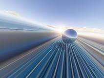 Перспектива Gridline горизонта Стоковая Фотография