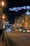 Перспектива Nevsky в Санкт-Петербурге, России Стоковое фото RF