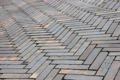 Перспектива striped текстуры поверхности плитки глины Стоковая Фотография RF