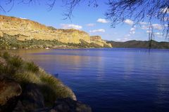 Перспектива Tont озера каньон Стоковое Изображение RF