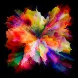 Перспективы красочного взрыва выплеска краски стоковая фотография rf