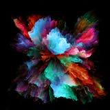 Перспективы красочного взрыва выплеска краски стоковое изображение