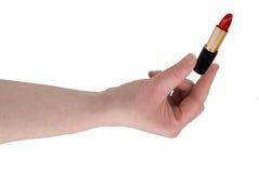 перста держа женщину lipsti s Стоковая Фотография RF