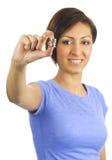 перста монеток она детеныши женщины владениями Стоковое Фото