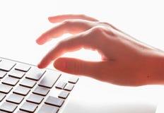 Перста на клавиатуре Стоковое Изображение RF